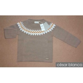 Cesar Blanco Winter Boy Sweater Greca Camel