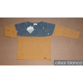 Cesar Blanco Winter Boy Sweater Ocher and Gray