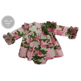 Mon Petit Bonbon Winter Baby Girl Set Military