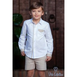 DBB Collection Invierno Conjunto niño Blanco Camel