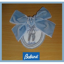 Babiné Winter Girl Pin Embrodery Blue Tie
