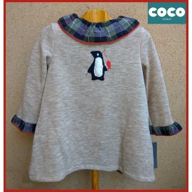 Coco Acqua Winter Baby Girl Dress Penguin
