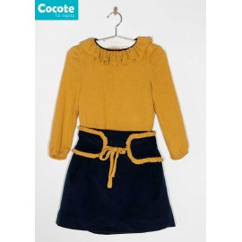 Cocote Winter Girl Set Ocher Navy