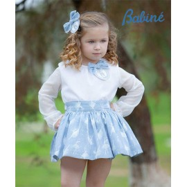 Babine Winter Girl Set Ballerinas Blue