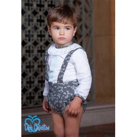 DBB Collection Winter Baby Boy Set Gray with Flowers