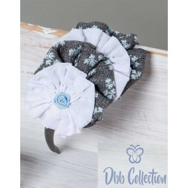 DBB Collection Invierno Diadema niña Gris Flores