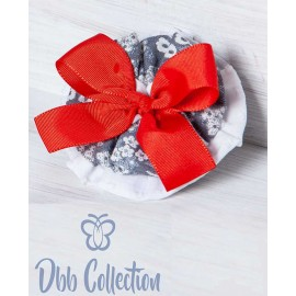 DBB Collection Winter Pin Printed Gray with Red Tie