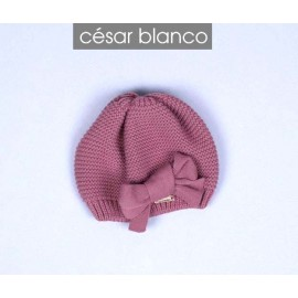 Cesar Blanco Winter Girl Hat Orchid Pink