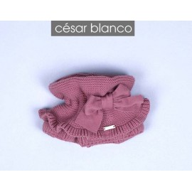 Cesar Blanco Winter Girl Scarf Orchid Pink