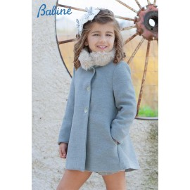 Babine Winter Girl Gray Coat with Hair Scarf