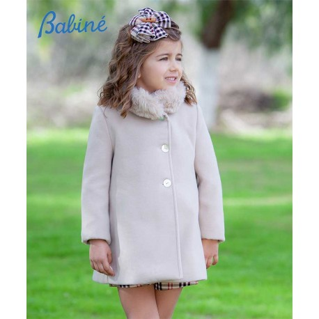 Babine Winter Girl Camel Coat with Hair Scarf