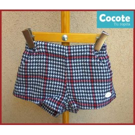 Cocote Winter Girl Shorts Squares Wine
