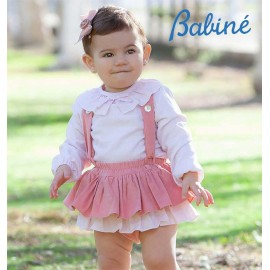 Babine Winter Baby Girl Set Pink Corduroy
