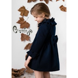 Carmen Vázquez Winter Girl Coat Abero Navy
