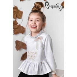 Carmen Vázquez Winter Girl Shirt Butterfly