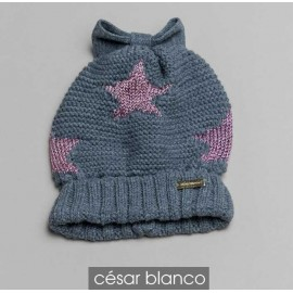 Cesar Blanco Winter Girl Hat Stars