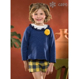 Creaciones Copo Winter Girl Set Blue and Ocher