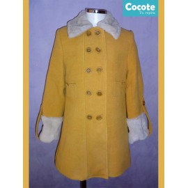 Cocote Winter Girl Ocher Coat with Hair