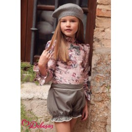 Debesos Winter Girl Set Flowers Plumetis