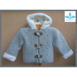 Sardon Winter Baby Boy Gray Coat