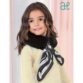 Abel & Lula Winter Girl Black Hair Scarf