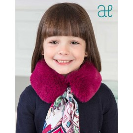 Abel & Lula Winter Girl Purple Hair Scarf