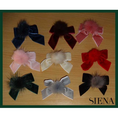 Siena Baby Girl Pin with Tie and Pompom