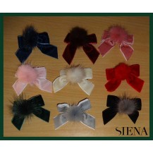 Siena Girl Pin with Tie and Pompom