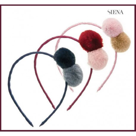 Siena Girl Diadem Two Pompoms