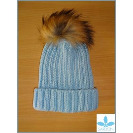 Sardon Blue Hat with Hair