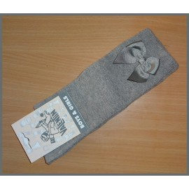 Valentin Girl Gray High Socks with Tie