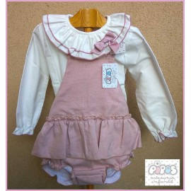 Pipos Winter Baby Girl Set Pink