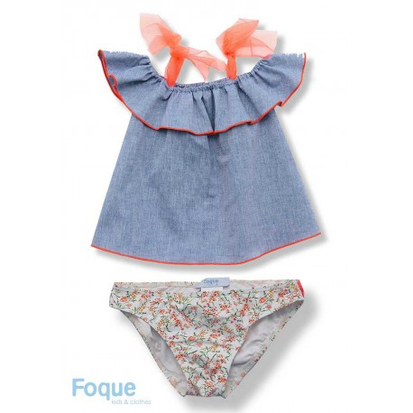 Foque Summer Girl Swim Knickers Flowers Printed
