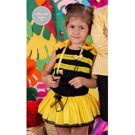 Mon Petit Bonbon Summer Girl Set Black and Yellow