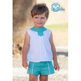 DBB Collection Summer Baby Boy Set White and Green