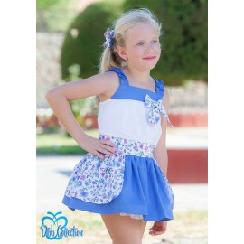DBB Collection Summer Girl Set Electric Blue with Flowers
