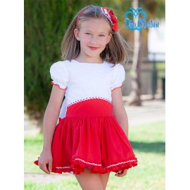 DBB Collection Summer Girl Dress White and Red