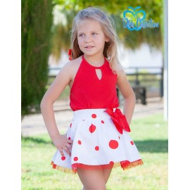 DBB Collection Summer Girl Set Red and White