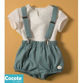 Cocote Summer Baby Boy Set Beige and Green
