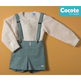 Cocote Summer Boy Set Beige and Green