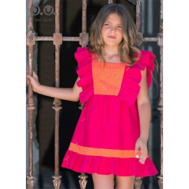 Jose Varon Summer Girl Dress Fuchsia