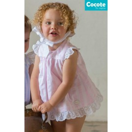 Cocote Summer Baby Girl Dress Pink Stripes