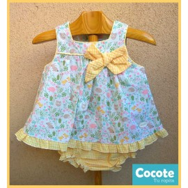 Cocote Summer Baby Girl Set Animals