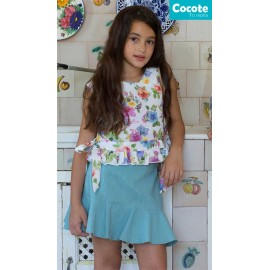 Cocote Summer Girl Set Print Flowers