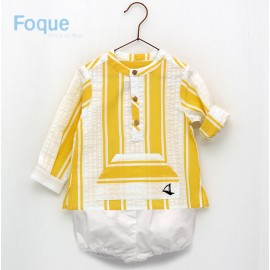 Foque Summer Baby Boy Set Yellow and White