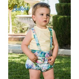 Babiné Summer Baby Boy Set Yellow and Printed