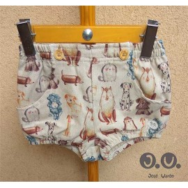 Jose Varon Summer Baby Boy Shorts Puppys Beige
