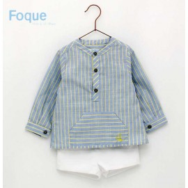 Foque Summer Boy Set Yellow and Blue Stripes