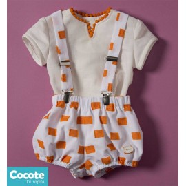 Cocote Summer Baby Boy Set White and Orange