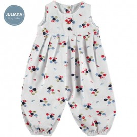 Juliana Summer Baby Romper White with Fishes